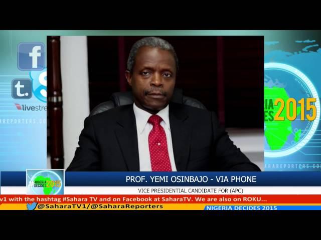 #NIGERIADECIDES 2015 APC VP Candidate Prof. Yemi Osinbajo