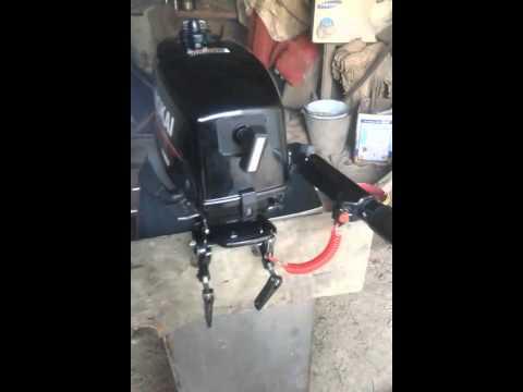лодочный мотор обкатка в бочке
