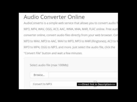 Online Audio converter [MP3, MP4, WAV, OGG, AC3, AAC, WMA, M4A, M4R, FLAC ]