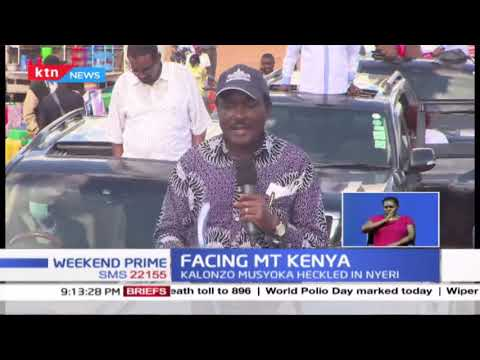 Facing MT. Kenya: Section of youth interrupt Kalonzo's tour in Central Kenya with Pro-Ruto Chants : KTN News