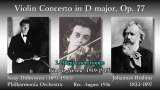 Brahms: Violin Concerto, Neveu & Dobrowen (1946) ブラームス ヴァイオリン協奏曲 ヌヴー