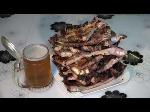 канал вкусного настроения  медовые рёбрышки на гриле honey ribs grilled