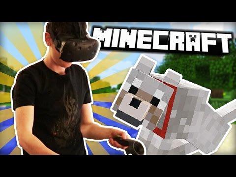 JE RENCONTRE FLUFFY EN VRAI ! | Minecraft HTC Vive thumbnail
