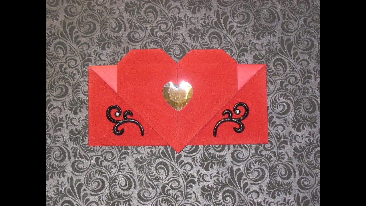 Origami Heart Envelope Youtube