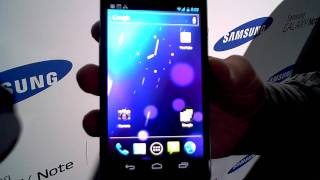 Samsung Galaxy Nexus - hands on walkthrough on video