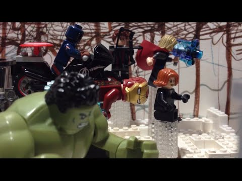 Avengers Age of Ultron  opening scene/ hydra base Lego stop motion recreation shot for shot