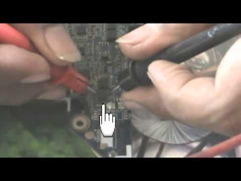 Checking Power IC of the laptop motherboard