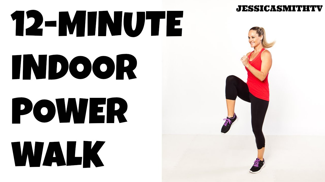 12-Minute Fat Burning Power Walk Home Workout - YouTube