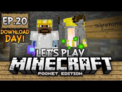 Survival Let's Play Ep. 20 (DD) - XP Farm & Mob Grinder!!! - Minecraft PE (Pocket Edition)