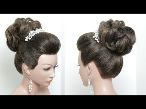 Perfect Bridal Bun. Hair Tutorial. Wedding Updo Hairstyle Step By Step
