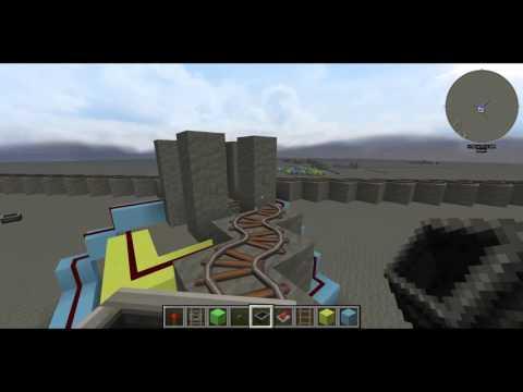 [Minecraft] Диагональная железнодорожная развилка