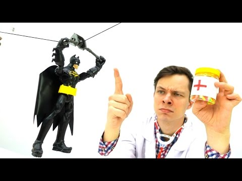 Командотерапия для Бетмэна, Супермена и Человека Паука. Видео для детей