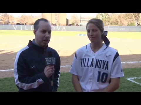 Villanova Softball: April 14, 2016 - Post-Game Interview with Jordan Prutzer
