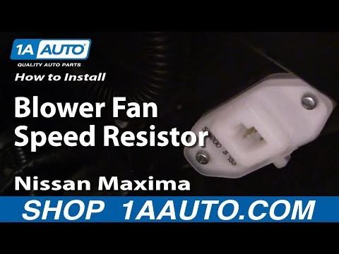 How To Fix Install Blower Fan Speed Resistor 2000-03 Nissan Maxima