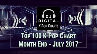 Top 100 K-Pop Songs Chart - July 2017 (Month End Chart)