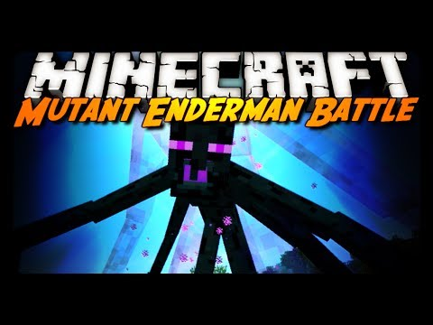 Minecraft: MUTANT ENDERMAN FIGHT! (Mod Review)