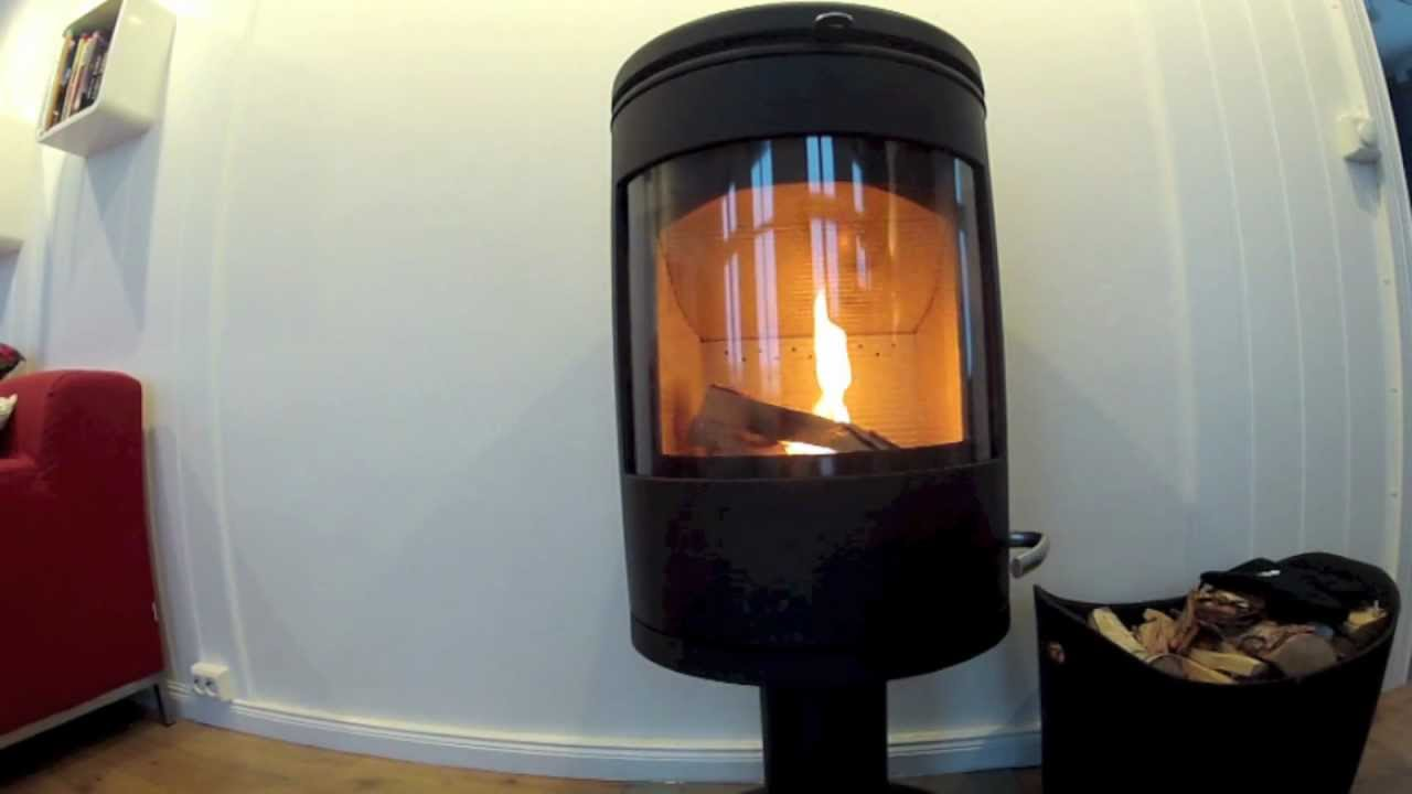 Morso Wood Stove 7648 On Fire For The First Time Youtube