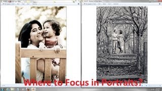 Portrait Photography Tutorial - Which Eye or Person to Focus on? Portrait Photography Tips