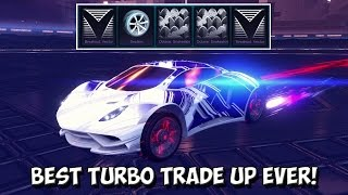 BEST TURBO & CC2 TRADE UP EVER! - Titanium WHITE Endo + Red Voltaic Wheels! | Rocket League Dropshot