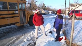 Nearly 3 dozen Dayton Public School buses stuck in the snow