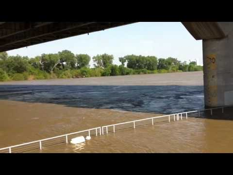 Missouri River flooding at the Lewis and Clark Landing, June 29, 2011