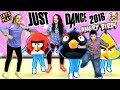 FGTEEV Kids plays Just Dance 2016!  ANGRY BIRDS + CHIWAWA Songs (1st Time Dance Moves)