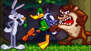 Bugs Bunny Rabbit Rampage (SNES) All Bosses (No Damage)