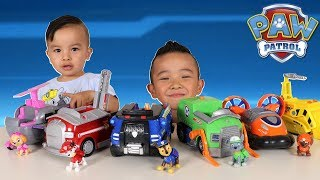 Giant Paw Patrol Vehicle And Characters Set Unboxing With Ckn Toys