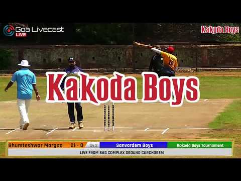 Chatrapati Chashak 2019 | Day 2 Session 1 | Kakoda Boys | All Goa Tennis Ball Cricket Tournament