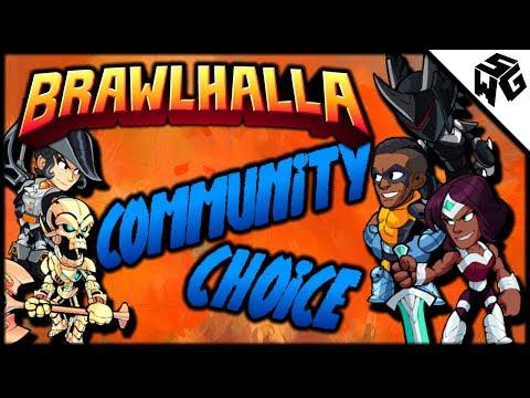 Community Choice! Azoth, Sentinel, Jhala, Orion, Diana! - Brawlhalla Gameplay : Variety of Weapons!