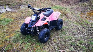 2020 VRX70 Kids Quad Bike With Remote Safety Cut Off - PINK