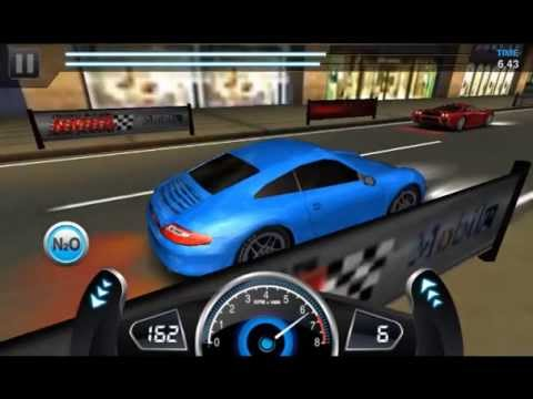 Drag Racing 3D win level 6 career Porsche 911 Carrera with 1 tune setup