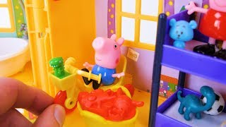 बच्चों और शिशुओं के लिए Peppa Pig खिलौना सीखना वीडियो!