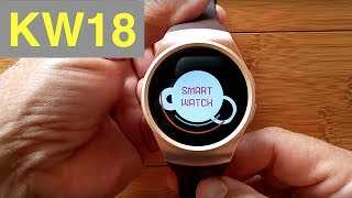 KingWear KW18 Dual Mode Round Smartwatch: Unboxing and 1st Look
