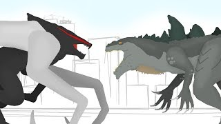 Download Godzilla 1998 ( Zilla ) vs MUTO | Godzilla Cartoons - DinoMania - animated cartoon movie 3Gp Mp4
