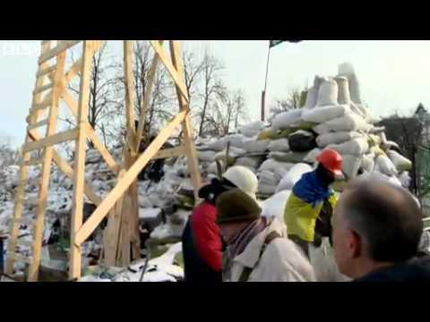 Inside Ukraine's 'protest town'