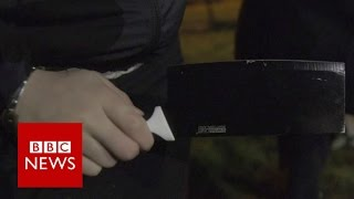 'We have to walk round with knives' - BBC News