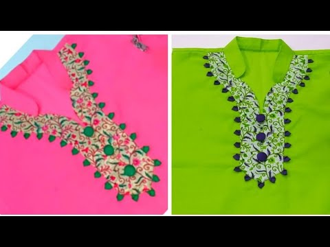Very creative kurti neck design /latest party wear kurti neck design making/very easy