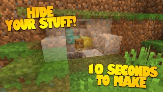 Minecraft Redstone | How to Make a Secret Room in 10 Seconds! | HIDDEN ROOMS! (Minecraft Redstone)