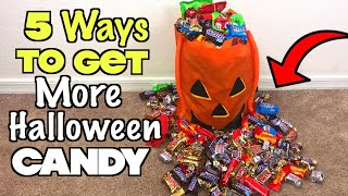 5 Ways To Get More Halloween Candy - PART 2 (Must Try) Trick or Treat Ideas! | Nextraker