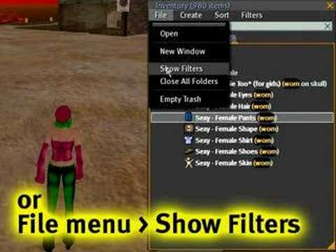 How to manage your inventory - Second Life Video TuTORial