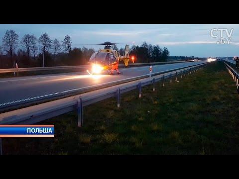 Они ехали домой из Праги: на рассвете в Польше автобус с 43 белорусами улетел в кювет и перевернулся