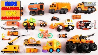 Orange Color Vehicles For Kids | Vehicles For Children | Colors For Kids | Kids Learning Video