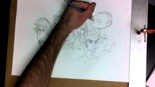 The Big Bang Theory - Cast Caricature