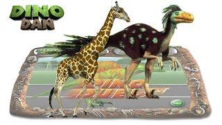 DINO DAN : DINO DUELS #31 -  Dromaeosaurus VS Giraffe @ Make For Kids