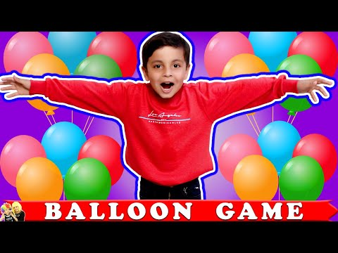 BALLOON GAME #Funny Learning Game Moral Story for Kids | Aayu and Pihu Show