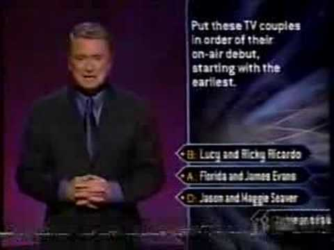 1/3 Rosie O'Donnell on Millionaire (celebrity edition)