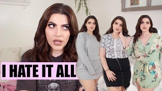 FAIL 400 DOLLAR PRETTY LITTLE THING TRY ON HAUL | everything sucks.
