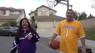 HUSBAND VS WIFE!! (BASKETBALL 1v1)