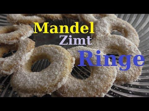 Mandel Zimt Ringe / Weihnachts- Plätzchen Rezept/  Kekse / Schnelle und Einfach